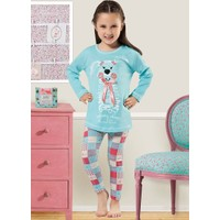 Özkan 40692 Kız Çocuk Pijama Takım - Turkuaz