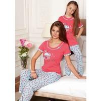 Yeni İnci CKP-226 Kız Çocuk Pijama Takım Nar Çiçeği