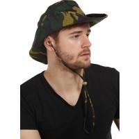 Kamuflaj Desenli Yazlık Bez Şapka 1215-3