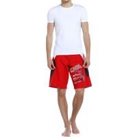 Erkek Deniz Şort - 117076 - Kırmızı - Reem