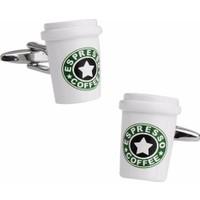 Modakedi Starbucks Espresso Kahve Severlere Erkek Kol Düğmesi