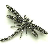 Tesbihci Dede Markazit Yusufcuk Tasarım Gümüş Broş Yaka İğnesi