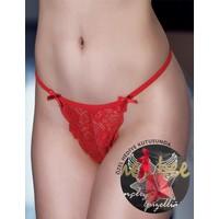 Mel Bee Özel Kutulu Komple Dantelli String Kırmızı MB3040