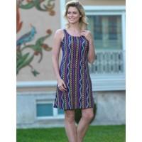 Mel Bee Dar Askılı Zincir Desenli Elbise MBP22239-1