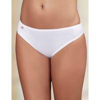 Şahinler Kadın Beyaz Lastik Biyeli Pantolon Ribana Külot MB023