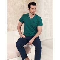 Şahinler Kısa Kol Pijama Takım Yeşil Mep22922-1