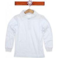 Modakids Uzun Kol Beyaz Okul Lakos T-Shirt 019-9511-027