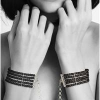 Bijoux Indiscrets Plaisir Nacre İnci Kelepçe Bileklik Siyah