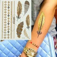 Leydika Flash Tattoo Geçici Metalik Dövme 353