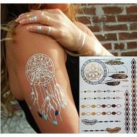 Leydika Flash Tattoo Geçici Metalik Dövme 505