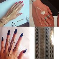 Leydika Saç El Parmak için Flash Tattoo Geçici Dövme 236