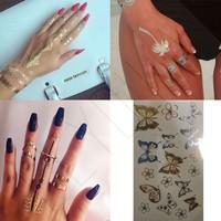 Leydika Saç El Parmak için Flash Tattoo Geçici Dövme 238