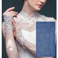 Leydika White Tattoo Beyaz Geçici Metalik Dövme 301