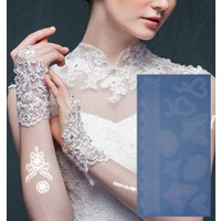 Leydika White Tattoo Beyaz Geçici Metalik Dövme 302