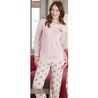 Feyza 2155 Devoreli Poliviskon Bayan Pijama Takımı