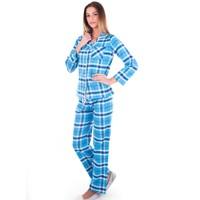 Ayyıldız 59484 Turkuaz Ekoseli Pijama Takımı