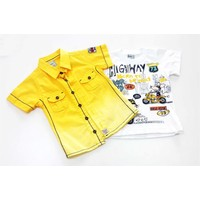 Benics Lake Street T-Shirtlü Sarı Gömlek