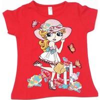 Difa Çiçek Sulayan Kız Çocuk T-Shirt