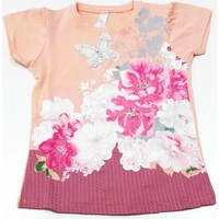 Ertuğ Anne & Bebek Gül Aşkı Kız Çocuk T-Shirt