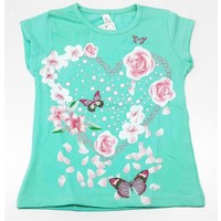 Ertuğ Anne & Bebek Kalpli Kelebekli Kız Çocuk T-Shirt
