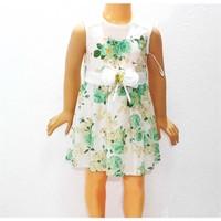 Himms Yeşil Çiçekli Kız Elbisesi 1-6 Yaş