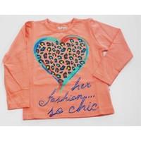 Minisi Leopar Kalpli Kız Çocuk T-Shirt