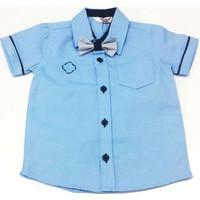 Timo Papyonlu Erkek Çocuk Gömlek Mavi
