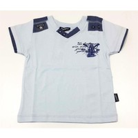 Tuffy Apoletli Erkek Çocuk T-Shirt Mavi