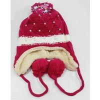 Kitti Genç Kız Kulaklı Şapka 4-12 Yaş Fuşya