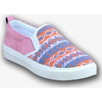 Markazen Kilim Desenli Babet Ayakkabı - Pembe