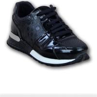 Markazen Desenli Spor Ayakkabı - Siyah 01