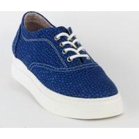 Markazen Bağcıklı Babet Ayakkabı - Mavi