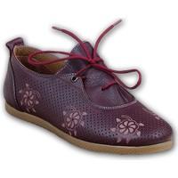 Markazen Desenli Bayan Babet Ayakkabı - Bordo
