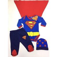 Marvel Superman 3'lü Çocuk Set ve Pelerin