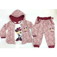 Disney Minnie Mouse 3'lü Çocuk Kadife Set