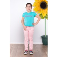 Ottomama Kız Çocuk Keten Pantolon Pudra Renk