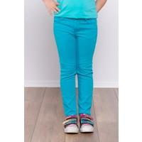 Ottomama Kız Çocuk Keten Pantolon Turkuaz Renk