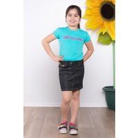 Ottomama Kız Çocuk Deri Baskılı Etek Siyah Renk