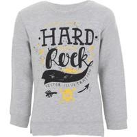 Soobe Pop Girls Rock Sweatshirt Gri Melanj 9 Yaş
