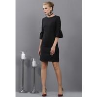 İroni İspanyol Kollu Siyah Mini Elbise