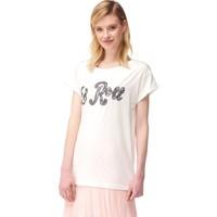 Dilvin 2846 Sim Nakışlı T-Shirt