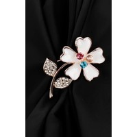 Morvizyon Çiçek Figürlü Broş Brs155