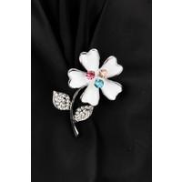 Morvizyon Çiçek Figürlü Broş Brs156
