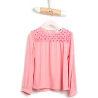 U.S. Polo Assn. Kız Çocuk Pembe Gömlek Crochet