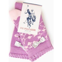 U.S. Polo Assn. Kız Çocuk Twiner Çorap Pembe