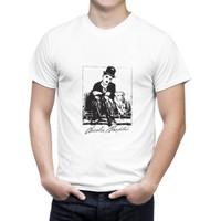 Cücüko Charlie Chaplin Baskılı Tişört
