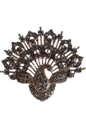 Aşina Gümüş Tavus Kuşu Elmas Montür Broş Hediye Paketinde Muhteşem Yüzyıl Hurrem Harem Serisi