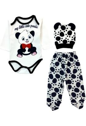 By Leyal For Kids Panda Body, Pantolon Ve Şapka Takım