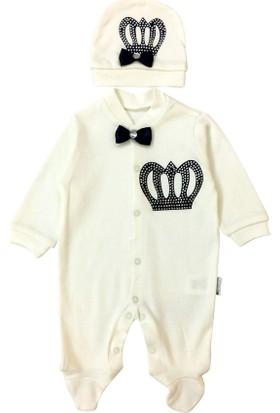 By Leyal For Kids Taşlı Kral Taçı Desenli Tulum Ve Şapka Takım 2173