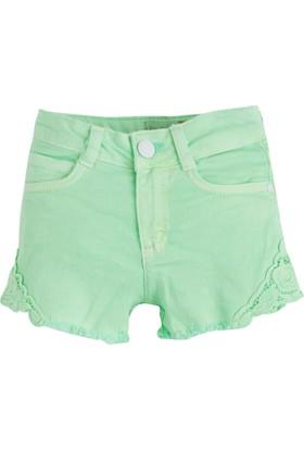 Soobe Pop Girls Dantel Detaylı Mini Şort Neon Yeşil 4 Yaş